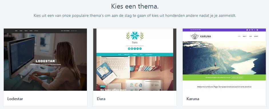 WordPress thema kiezen