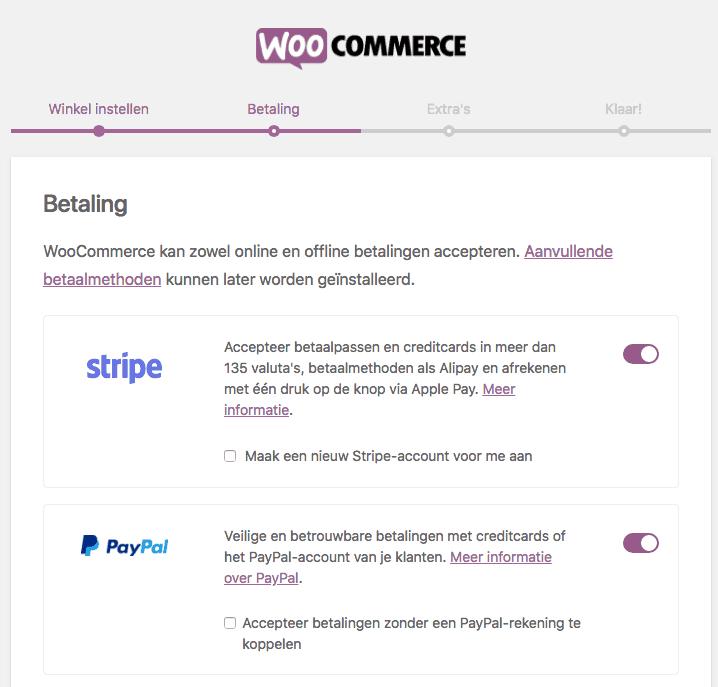 WooCommerce betalingen