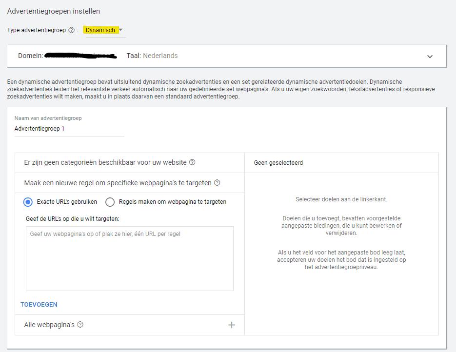 Dynamische zoekadvertenties