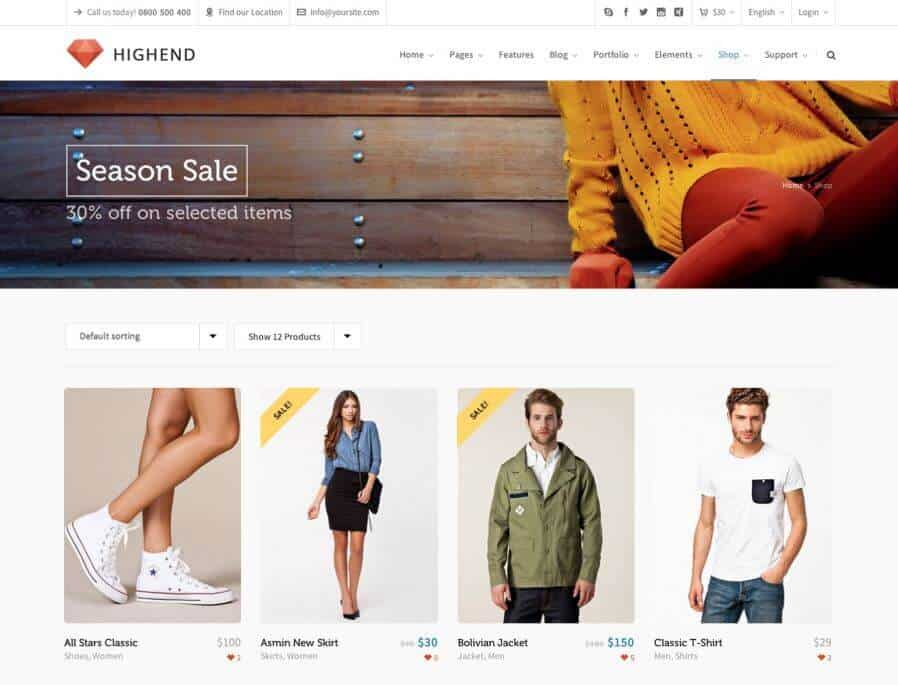 Highend, nr 11 van de WooCommerce themes