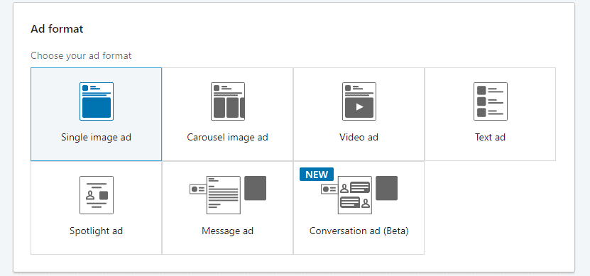 Linkedin advertising website visits