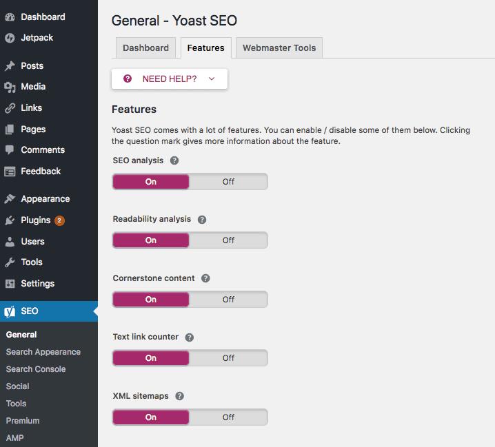 WordPress XML sitemap - Yoast SEO