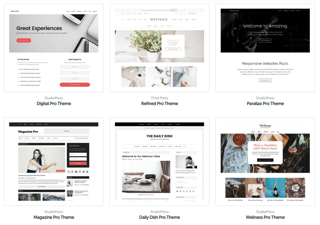 StudioPress thema's voor WooCommerce