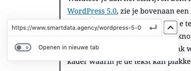 wordpress link in nieuw tabblad