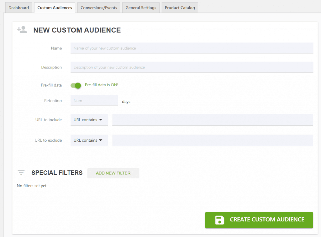 custom audience wordpress
