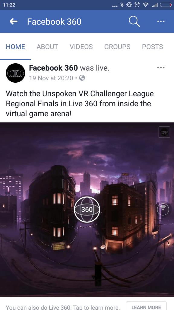 Facebook advertentieformaten 360