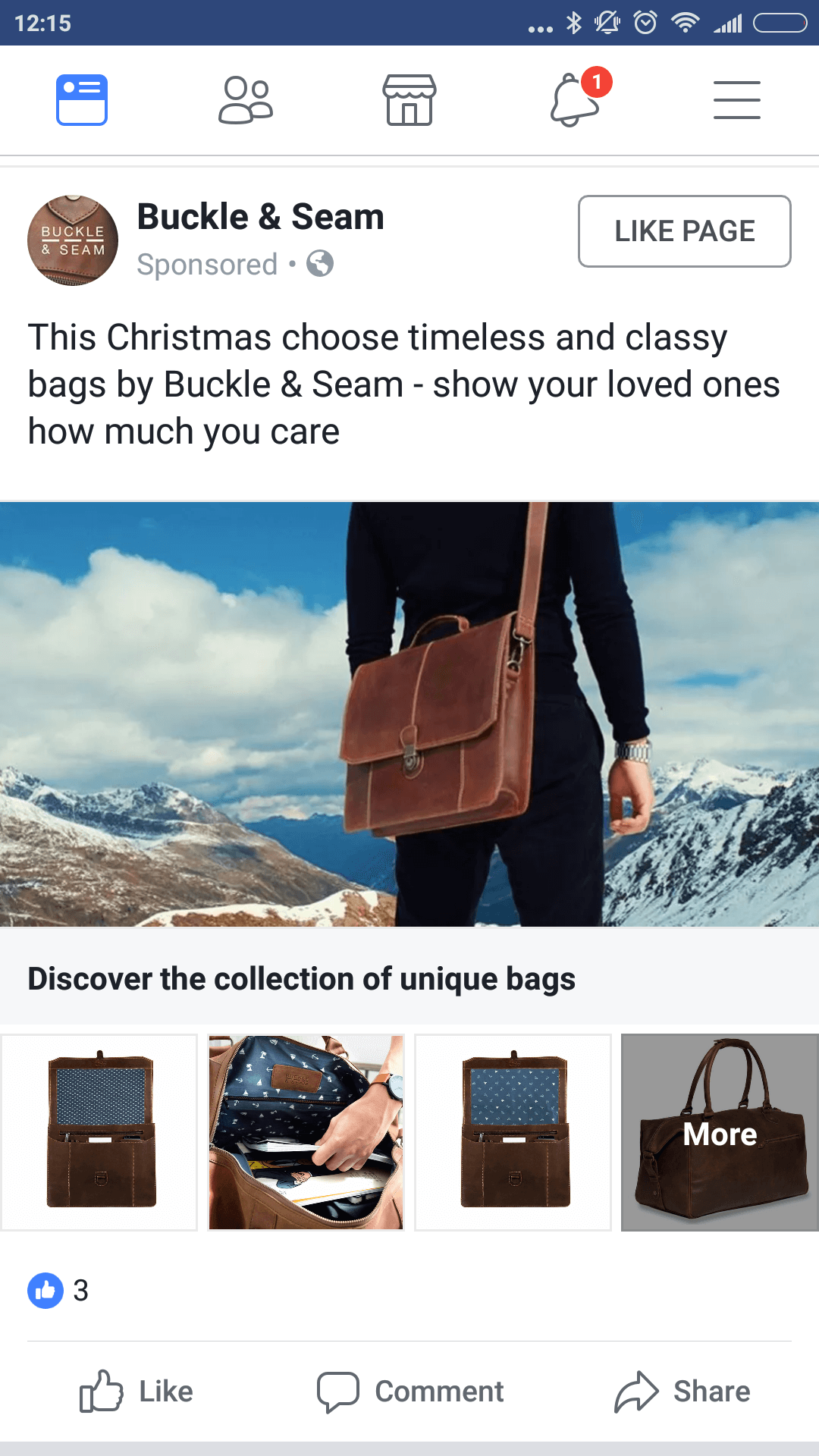 facebook collectie advertentie
