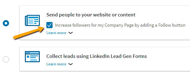 LinkedIn ads sponsored content