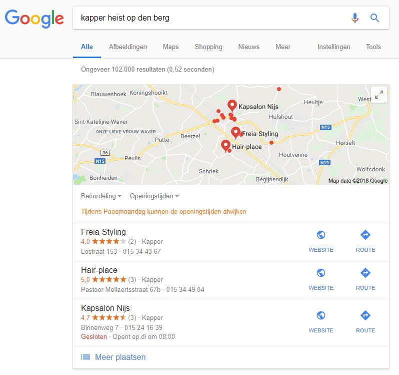 Lokale SEO - lokale zoekterm