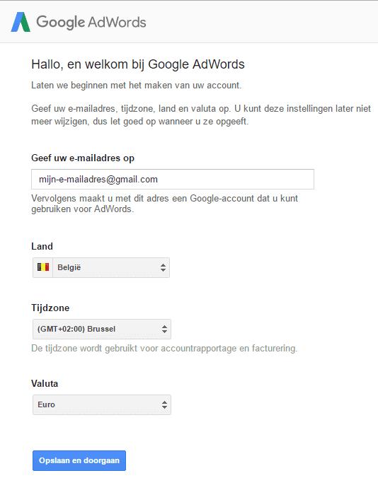 Welkom bij Google AdWords