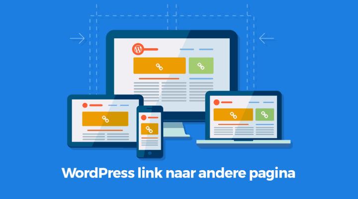 WordPress link naar andere pagina