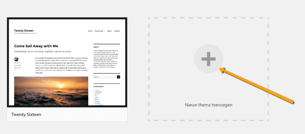 WordPress weergave themas